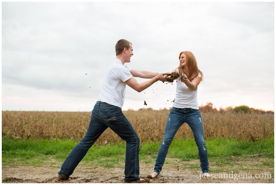 Jesse Amp Gena Photography Mud Fight Engagement Session